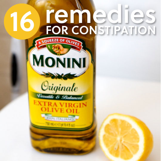 16 Remedies for Constipation- to get things moving.