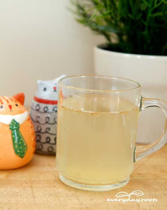get rid of gas with ginger tea