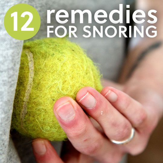 12 Snoring Remedies- to sleep better.