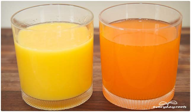 orange juice vs orange drink