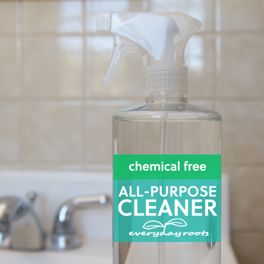 How to Make Homemade Chemical Free All-Purpose Cleaner- with only 4 ingredients.