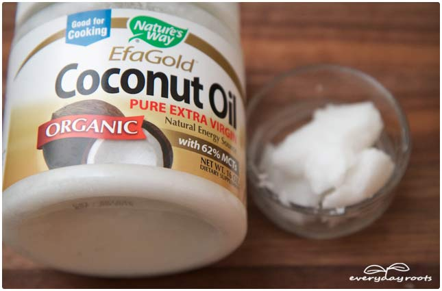 coconut oil rub