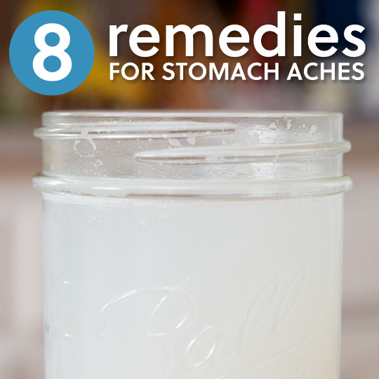 8 Natural Home Remedies for Stomach Aches- these really help me when I get an upset stomach and abdominal pain!