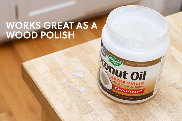 coconut oil wood polish