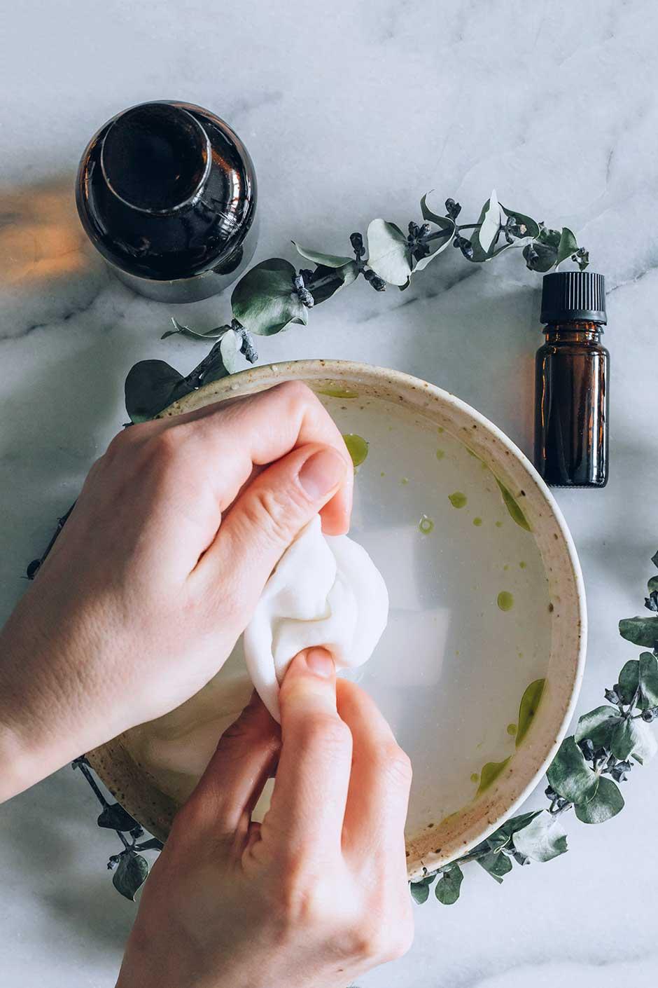 eucalyptus cold compress remedy