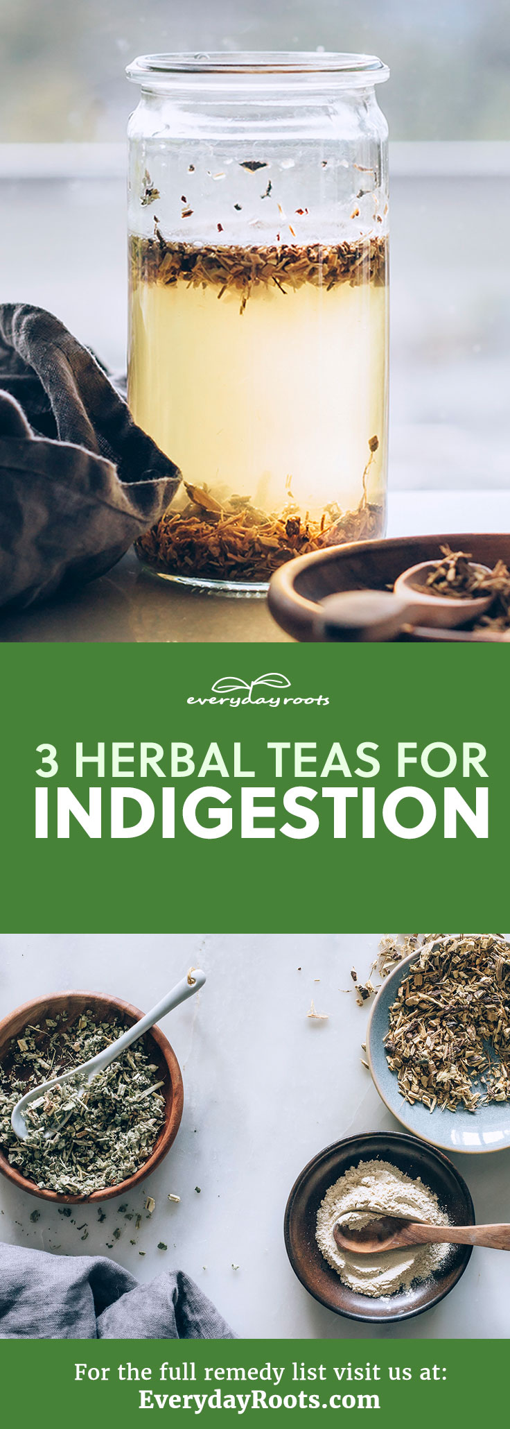 Here are 3 herbal teas to help cure your indigestion woes.