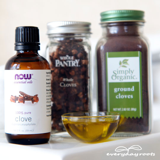Clove Compress Remedy for a Toothache- use this simple & effective natural remedy to get
