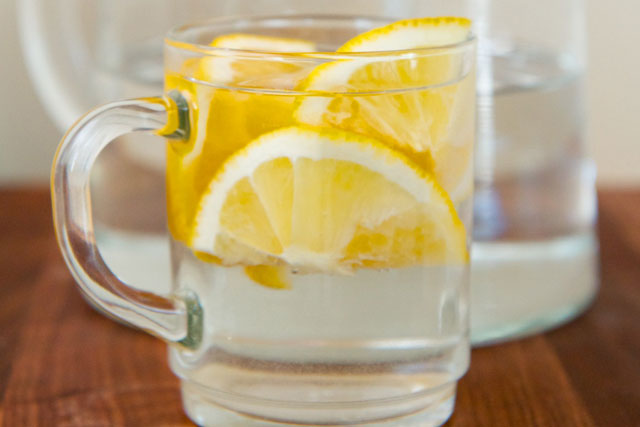 how water and lemon
