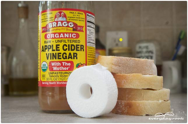 bread and apple cider vinegar