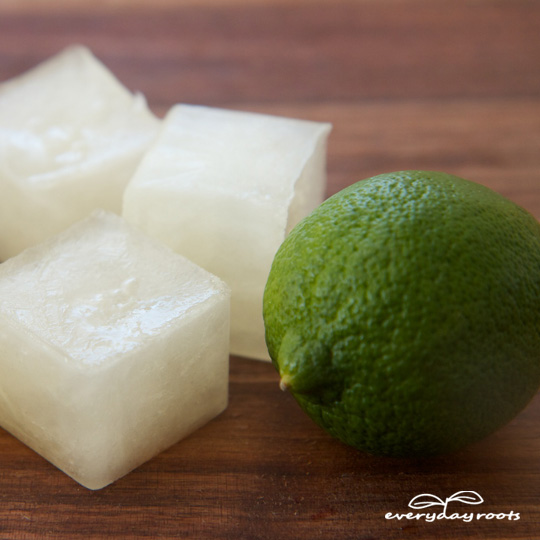 Electrolyte Ice Cubes- these homemade ice cubes are a great natural way to get rid of morning sickness.
