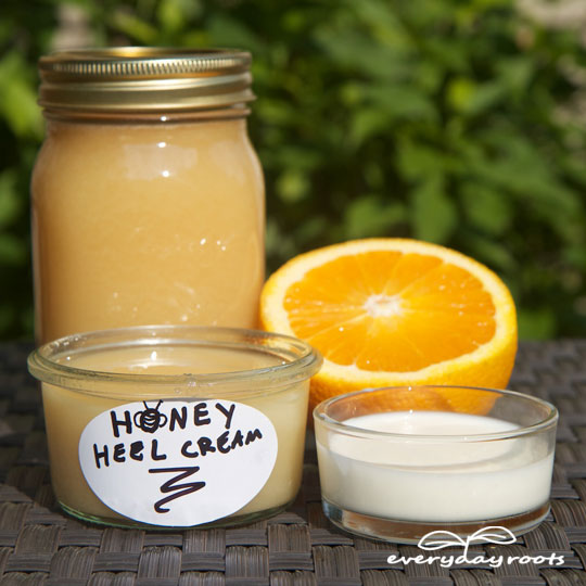 How to Make Honey Heel Moisturizer- for dry, cracked heels.