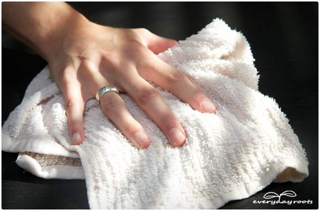 homemade dust cloth