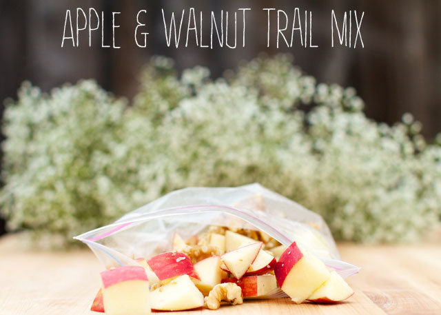 apple and walnut trail mix