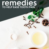 Next time you get a toothache, try one of these natural remedies to help ease the pain. They work!