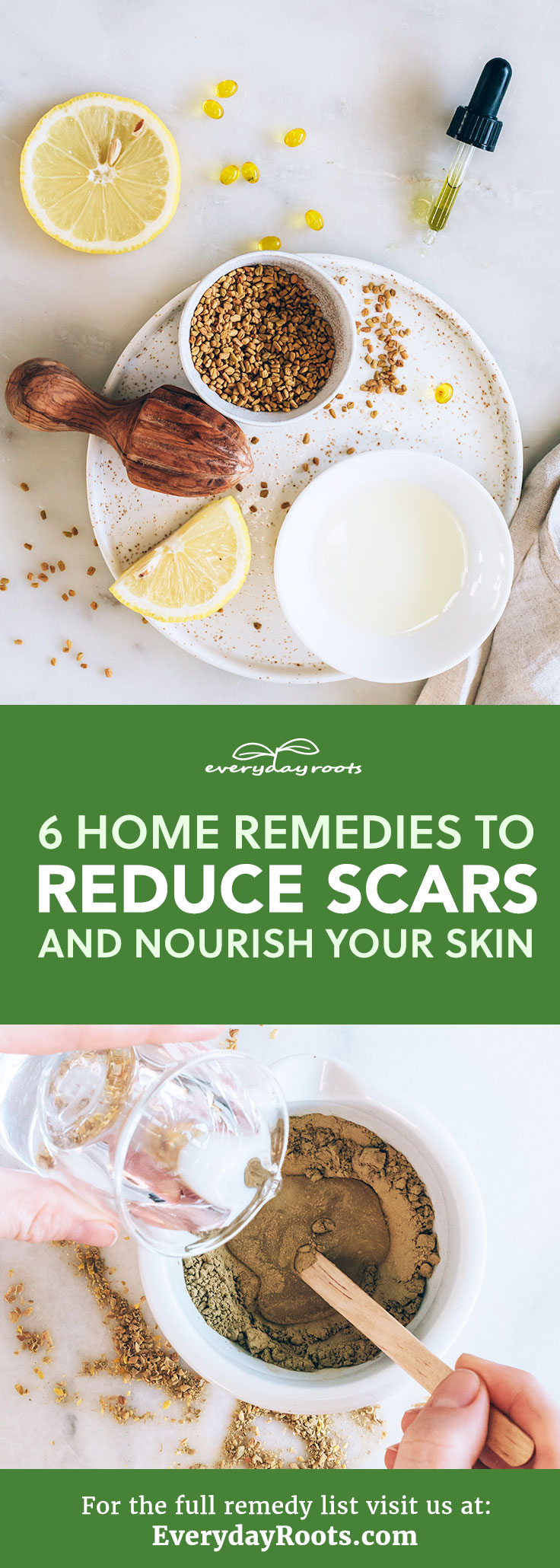 Take a look at these 6 effective natural remedies to reduce the appearance of scars and nourish your skin.